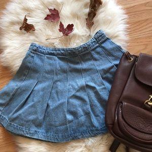 🍁 pleated 90s style high waisted short skirt